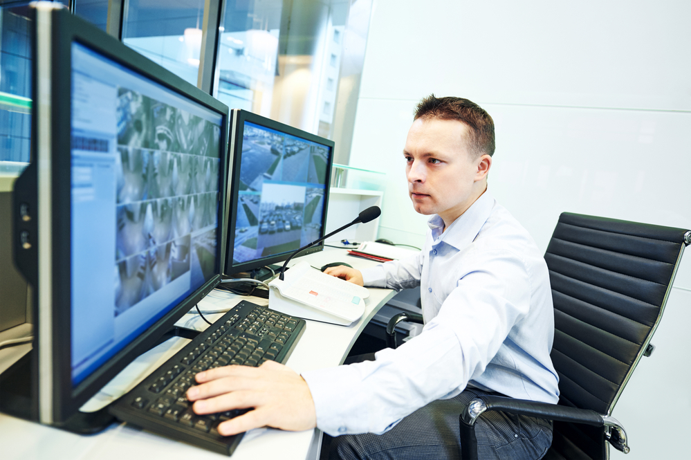 video monitoring service protecting a property